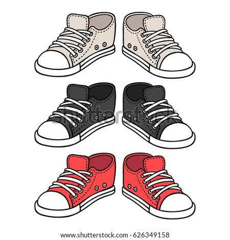 canvas sneaker line icon isolated stock vector
