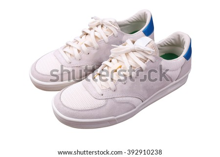 Sneakers isolated - stock photo