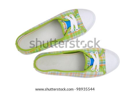 Sneakers with clipping path - stock photo