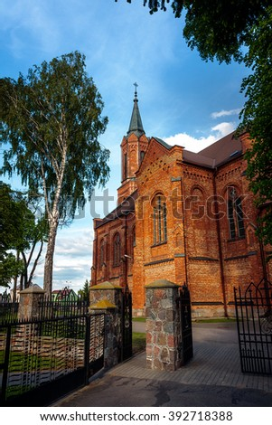 Sniadowo Village, Poland.  Church of the Assumption of the Holy Virgin Mary 1912