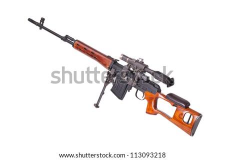 sniper rifle - stock photo