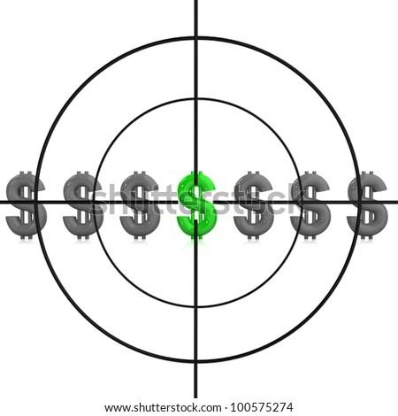 Sniper target. Concept. - stock photo