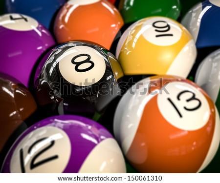 Snooker balls - stock photo