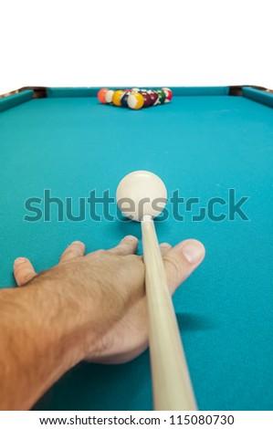 Snooker billiard - stock photo