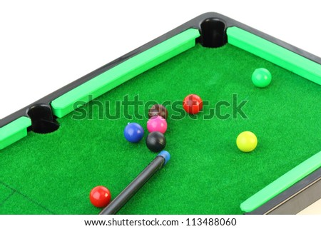 snooker on white background - stock photo