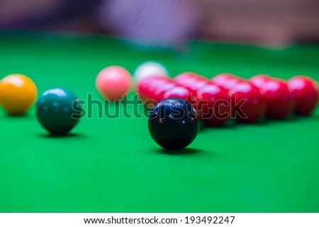 Snooker Table 6 colors