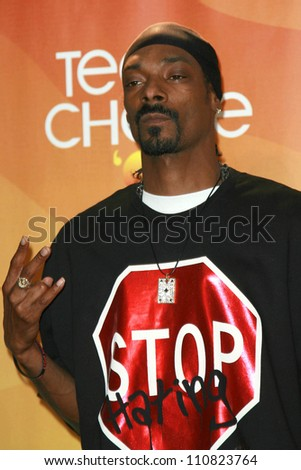 Snoop Dogg in the press room of the 2007 Teen Choice Awards. Gibson Amphitheater, Universal City, CA. 08-26-07 - stock photo