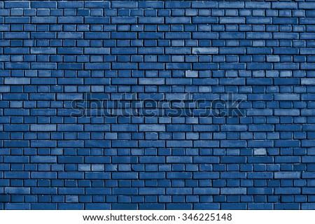 Snorkel blue brick wall background - stock photo