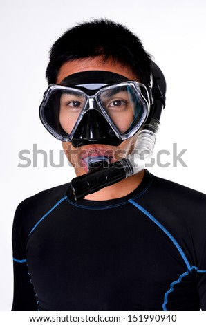 Snorkeler normally wear the same kind of mask as those worn by scuba divers.