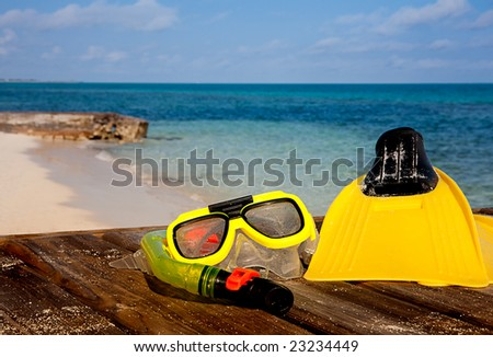 Snorkeling Island Style - stock photo