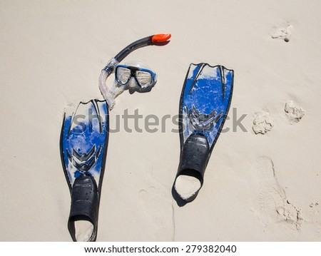 Snorkelling on siam bay, Phuket,Thailand - stock photo