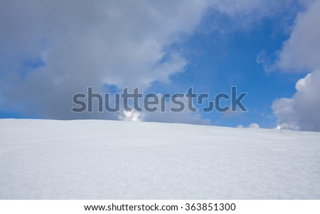 Snow and clouds
