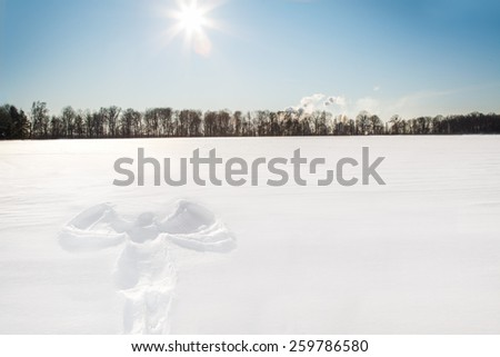 Snow angel - stock photo