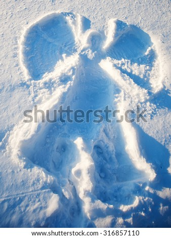 Snow Angel Stock Images Royalty Free Images Amp Vectors