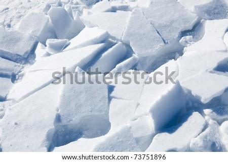 Snow background. Beautiful fresh chunks of snow. - stock photo