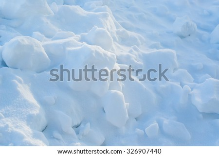 snow background close up - stock photo