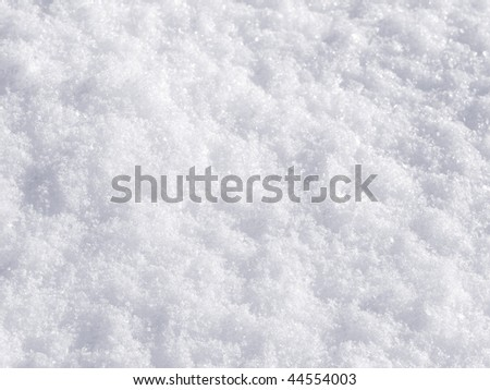 Snow background while an awesome and atypical snow day in Madrid, Spain - stock photo