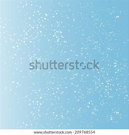 snow, blue background - stock photo
