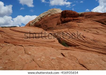 Snow Canyon Petrified Dunes at Snow Canyon near Zion National Park, Utah, US - stock photo