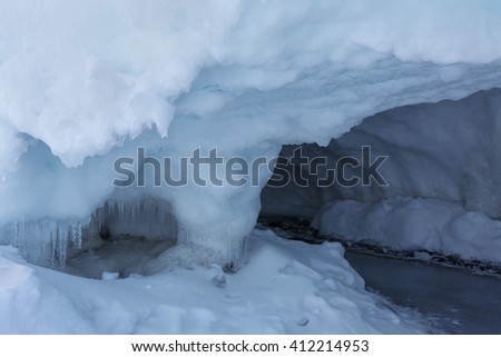 Snow caves of ice.