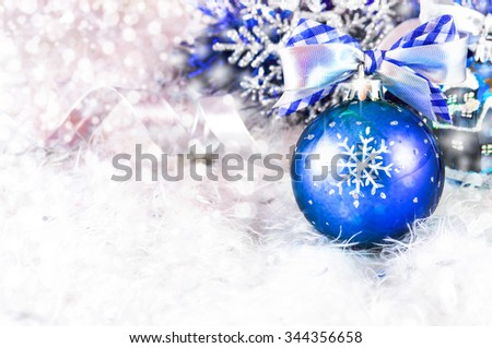 Snow christmas magic lights background