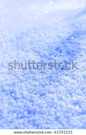 Snow closeup - stock photo