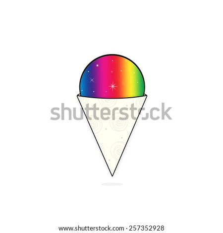 Snow Cone/Shaved Ice - stock photo