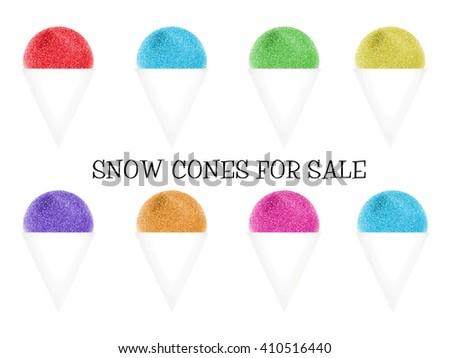 Snow Cones - stock photo