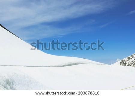 Snow corridor in Tateyama Japan - stock photo