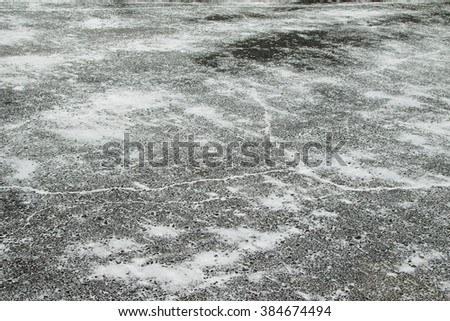 snow-covered asphalt roads background