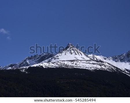 Snow covered mountains glacier forest village sightseeing tour cruise
