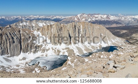 Snow Covered Sierra Nevada, California, USA. - stock photo