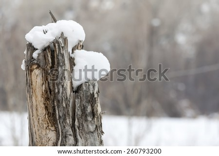 Snow covers the mountains in the western part of the United States - stock photo