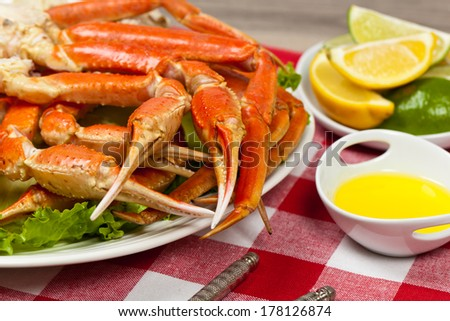 Snow Crab Legs - stock photo