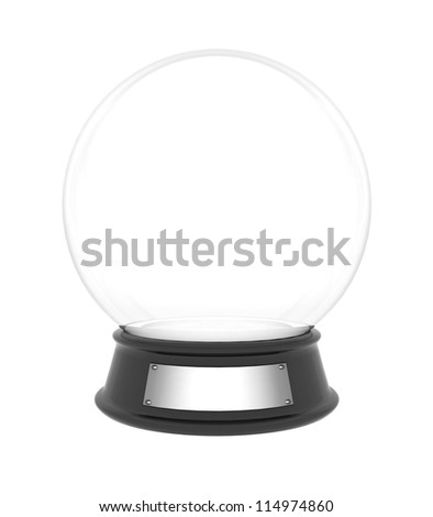 snow dome on a white background isolated