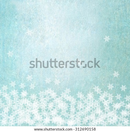 snow effect - blue abstract background - christmas design - stock photo