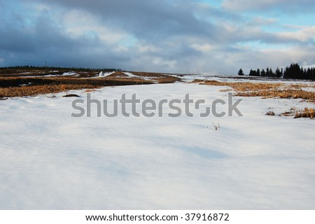 Snow field, Hogsback, South Africa