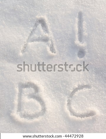 Snow font - stock photo