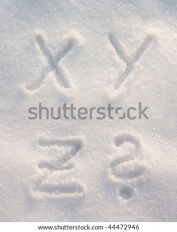 Snow font - stock photo