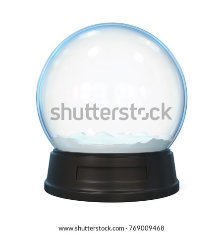 Snow Globe Isolated. 3D rendering