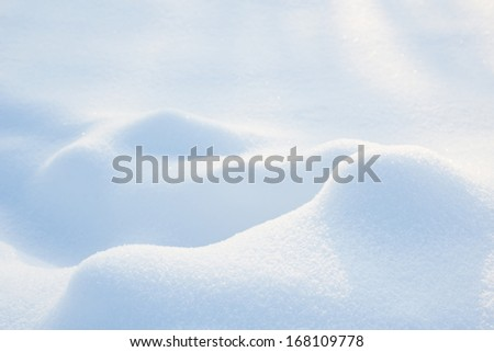 Snow hills - abstract winter background - stock photo