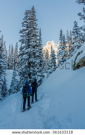 Snow in the Rockies allows for exploration of the mountains in all seasons