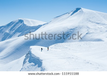 Snow Mountain - stock photo