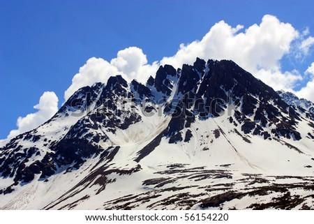 Snow Mountain - stock photo