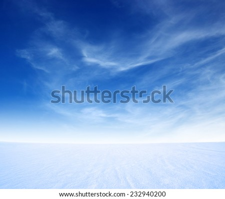 snow mountain and blue sky  - stock photo