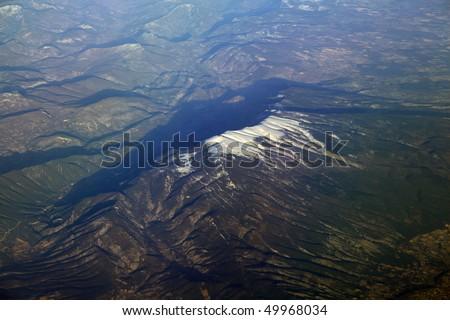 snow mountain in atlas, algeria - stock photo