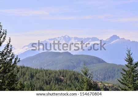Snow mountain scenery - stock photo