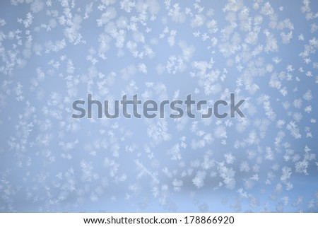 snow on the window - stock photo