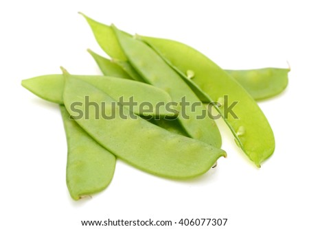 Snow peas isolated white