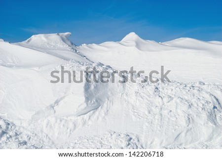 Snow Pile in Winter - stock photo
